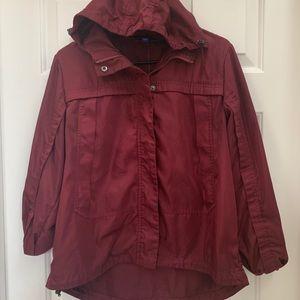 Joylab Burgundy Hooded Jacket (M)